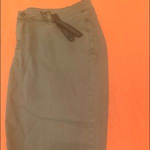 Olive super stretch ankle jeans size 18